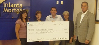 Donation Check for Habitat for Humanity of Waukesha