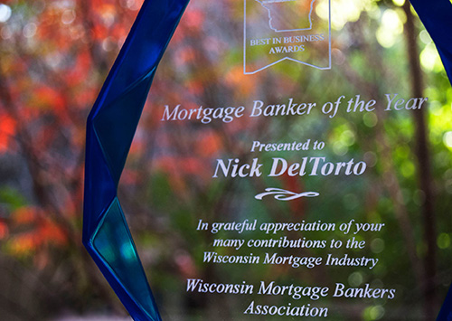 Nicholas DelTorto Mortgage Banker of the Year award