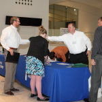 Adam Deputy, manager of the Brookfield West office, was greeted by Rod Weis.