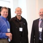 Branch Managers Randy Cleveland and Eric Kistka pose with Peter Salamone from the corporate team.