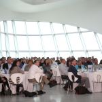 Inlanta Mortgage conference attendees listen attentively to Jamie Korus.