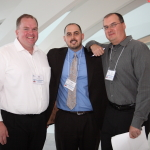 Rod Weis, Jeremy Page and Chris Knowlton pose for a picture.