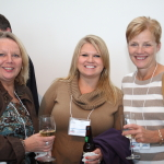 Corporate office staff members came down for cocktails. From left to right, Cynthia Porst, Kim Hoesly and Rosemary McCullough