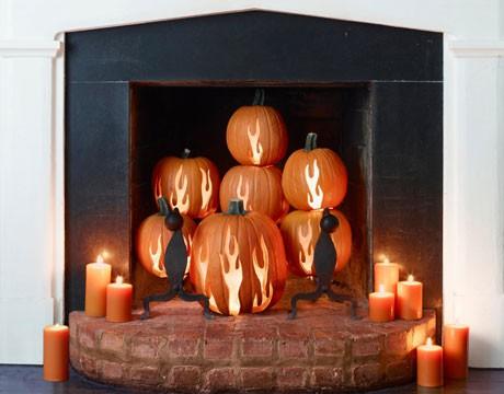 Jack-O-Lantern Fireplace