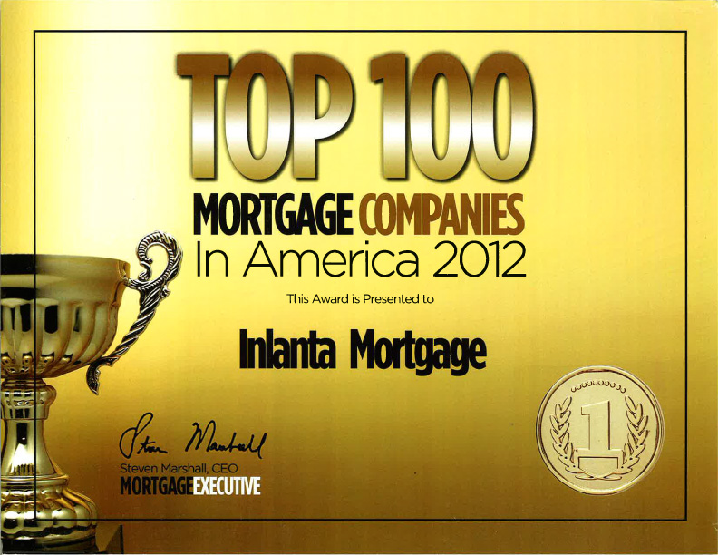 Top 100 Mortgage Company 2012