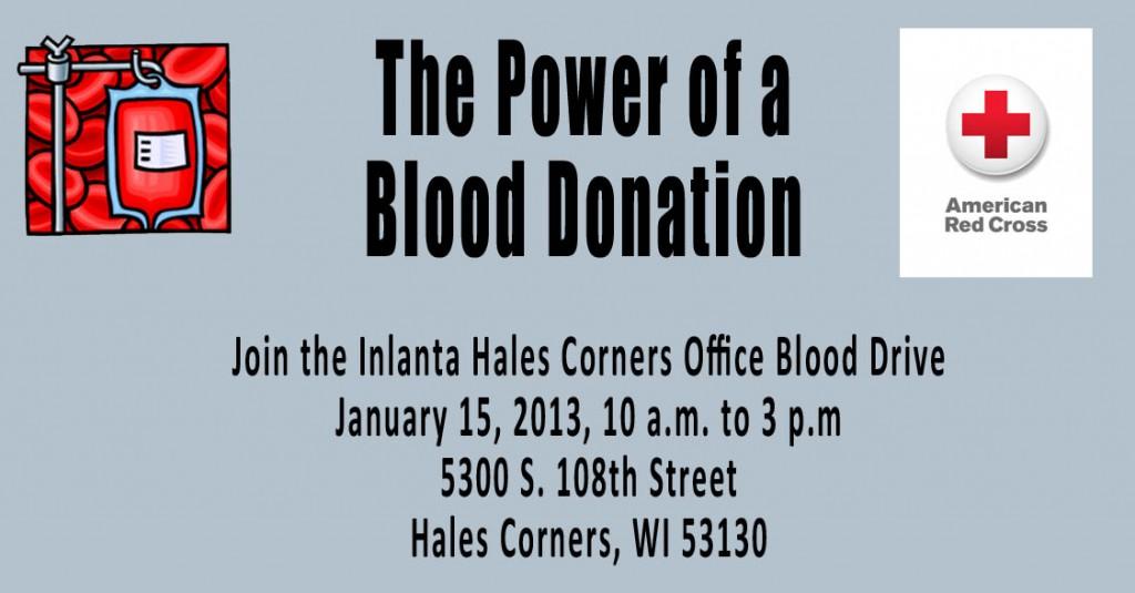 Blood Drive Hales Corners Wisconsin